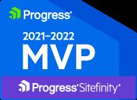 Progress Sitefinity MVP Badge 2021-2022