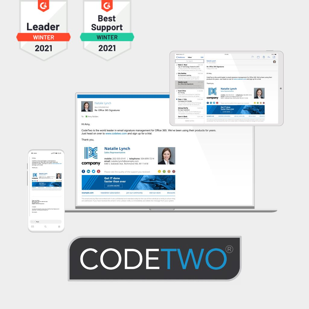 CodeTwo e-mailhandtekening software